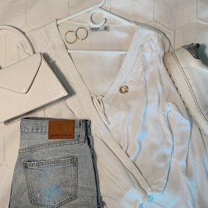 Long sleeve White Hollister Top